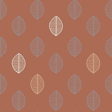 Simple Graphic Foliage design Cavern Clay Background by broadmeadow