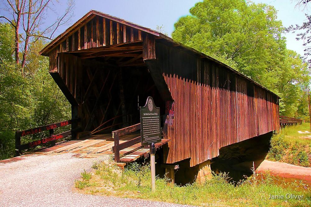 Big Red Oak Creek Covered Bridge by Janie Oliver