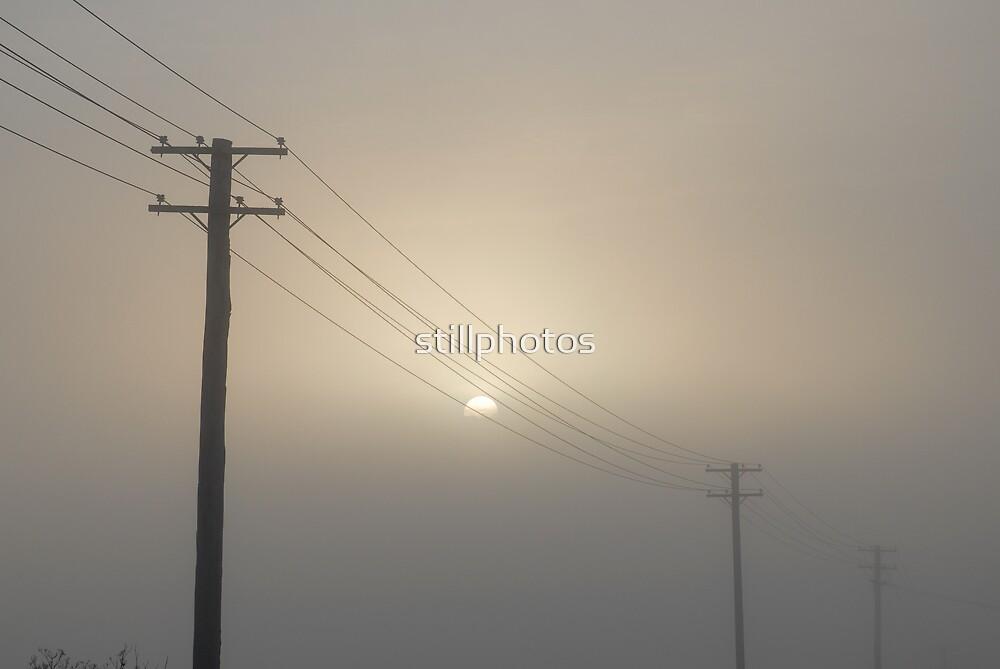 sun in mist by stillphotos