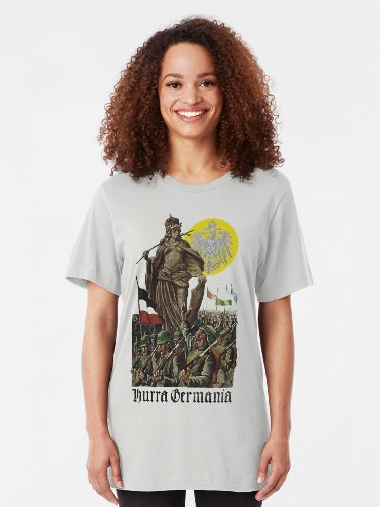 Alternate view of Germania encouraging soldiers.. 1914 Slim Fit T-Shirt
