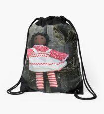 African American Raggedy Ann Drawstring Bag