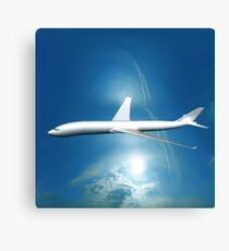 Dream Liner in the Sky Canvas Print