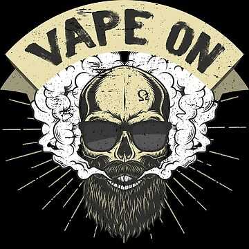 Cloud Chaser - Vaping Bearded Skull - Vape On by anziehend