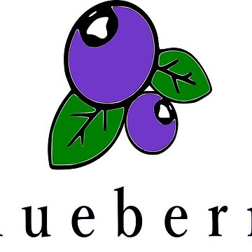 Blueberry blueberry graphic drawing gift birthday by Johnny1990