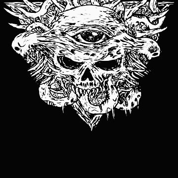 Satanic Eye, Satanic Shirt, Satan Occult, Death Metal, Metal Head, Rock Band, Hard Rock, Heavy Metal by kraftd