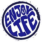 Enjoy Life - Hippie Style Handmande lettering by Chilling Nation