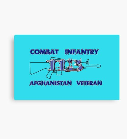 11Bravo - Combat Infantry - Afghanistan Veteran Canvas Print