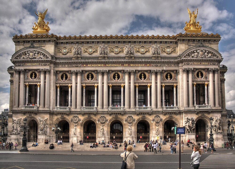 The old opera house in Paris by James Duffin