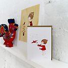 Hope Bird Winter Note Card by naokosstoop