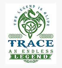 Legend T-shirt - Legend Shirt - Legend Tee - TRACE An Endless Legend Photographic Print