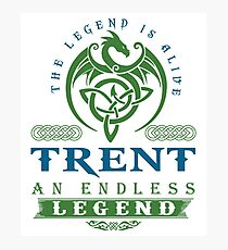 Legend T-shirt - Legend Shirt - Legend Tee - TRENT An Endless Legend Photographic Print