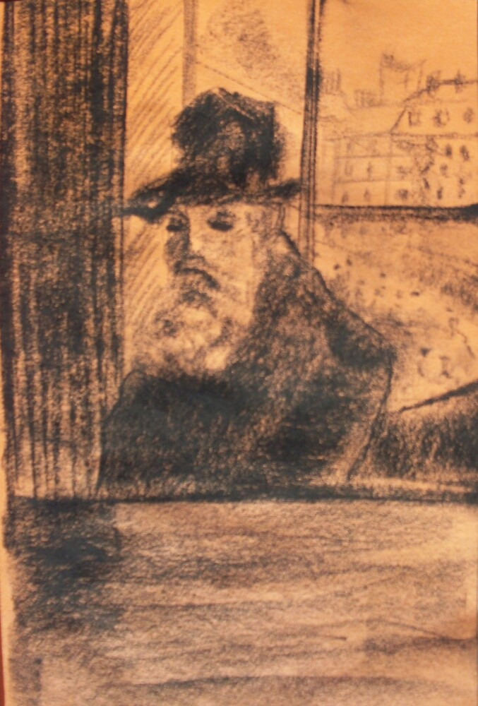 Old Man Pissaro by Christopher  Raggatt