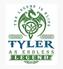 Legend T-shirt - Legend Shirt - Legend Tee - TYLER An Endless Legend Photographic Print