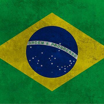 Brazilian Grunge Flag by Almdrs