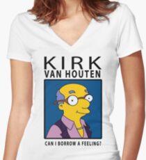 6aa9f22b6 Kirk Van Houten - Can i borrow a feeling? Women's Fitted V-Neck T
