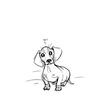 Dachshund puppy love by Dwuff