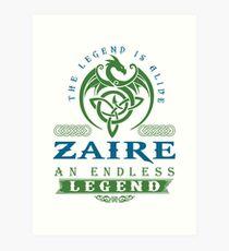 Legend T-shirt - Legend Shirt - Legend Tee - ZAIRE An Endless Legend Art Print
