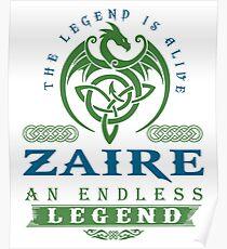 Legend T-shirt - Legend Shirt - Legend Tee - ZAIRE An Endless Legend Poster