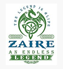 Legend T-shirt - Legend Shirt - Legend Tee - ZAIRE An Endless Legend Photographic Print