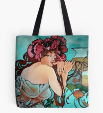 Mucha Summer with Iced Tea Tote Bag