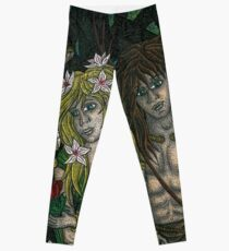 The Goddess and the Young God Leggings