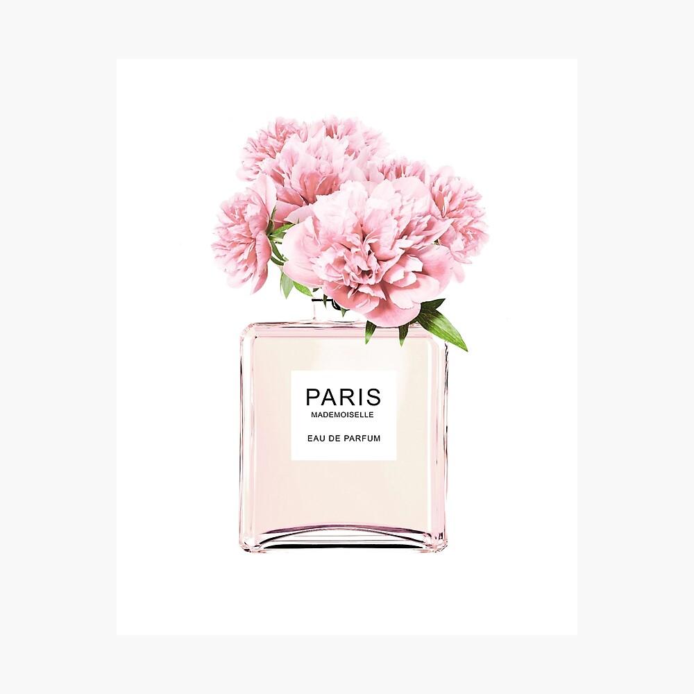 Perfume bottle, Flowers print, Scandinavian, Peony, Fashion print, Scandinavian art, Modern art, Wall art, Print, Minimalistic, Modern Photographic Print