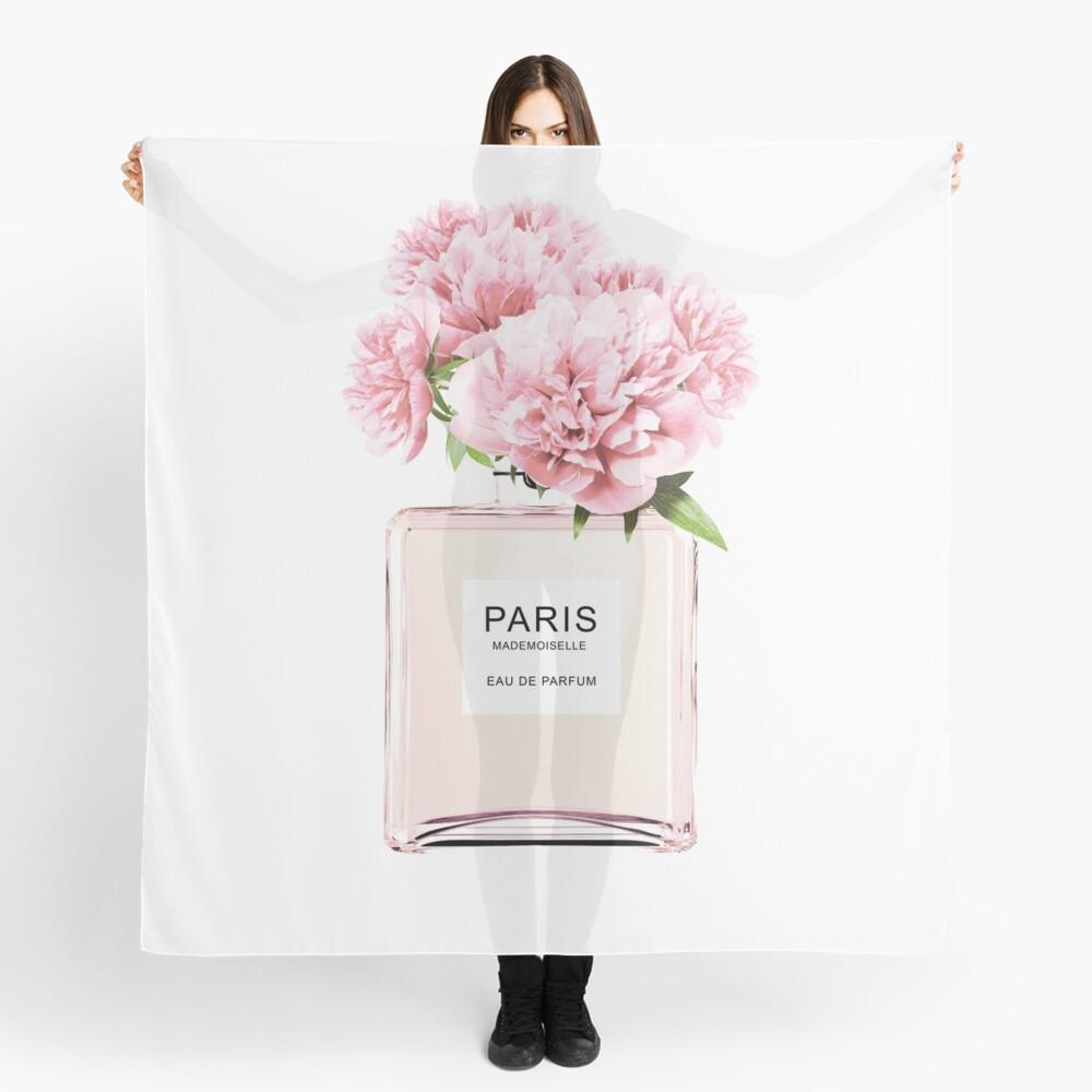 Perfume bottle, Flowers print, Scandinavian, Peony, Fashion print, Scandinavian art, Modern art, Wall art, Print, Minimalistic, Modern Scarf