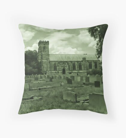 St Mary Church - Sledmere - East Yorks Throw Pillow