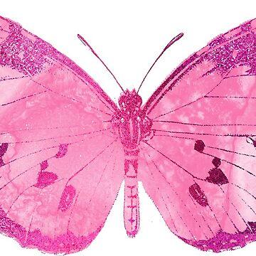 Pretty Pink Butterfly by EarthlyIndigo