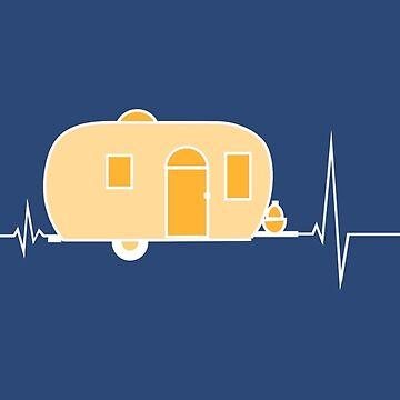 Hearbeat Camping - I love camping by Juttas-Shirts