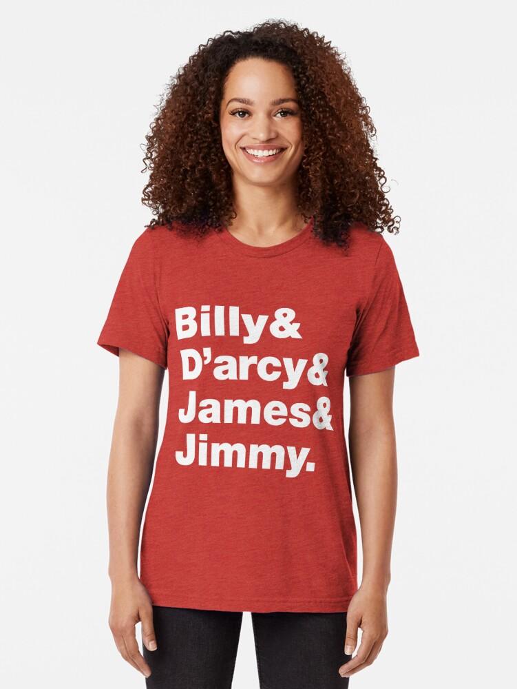 d0f72c817 Alternate view of Smashing Pumpkins Tribute Helvetica List Tri-blend T-Shirt