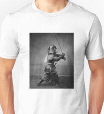 Samurai in black and white Unisex T-Shirt