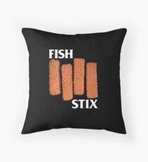 FISH STIX Throw Pillow