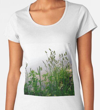 Grass on the banks of the Rideau River, Ottawa Women's Premium T-Shirt