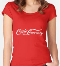 Crypto-Currency Women's Fitted Scoop T-Shirt