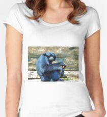 Siamang Having A Snack Women's Fitted Scoop T-Shirt