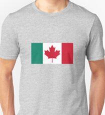 Canada / Italy Flag Mashup  Slim Fit T-Shirt