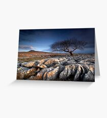 Limestone Pavement Greeting Card