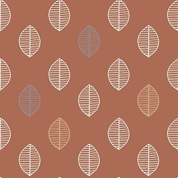 Simple Leaf design Cavern Clay Background by broadmeadow