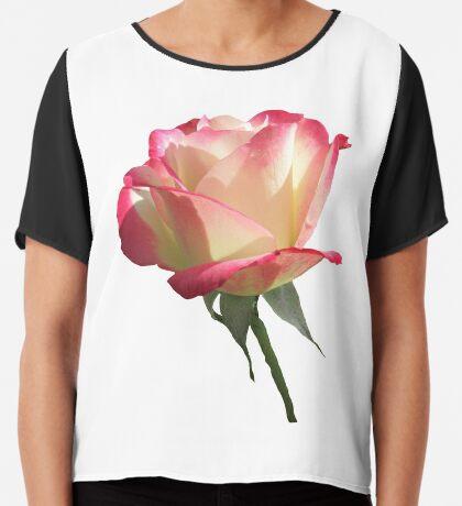 wunderschöne, pinke Rose, Rosen, pink, Blume Chiffontop für Frauen