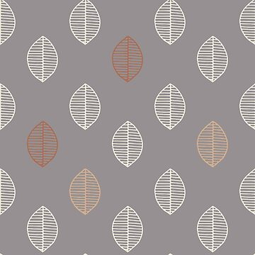 Simple Leaf design Slate Violet Background by broadmeadow