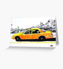 Taxi. Greeting Card