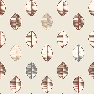 Simple Leaf design Creamy Background by broadmeadow