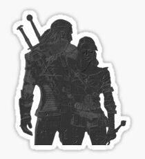 Geralt and Ciri Sticker