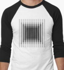 Square Lines (BLACK) Camiseta ¾ estilo béisbol