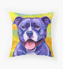 Colorful American Pitbull Terrier Dog Floor Pillow