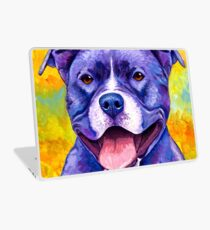 Colorful American Pitbull Terrier Dog Laptop Skin