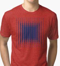 SQUARE LINE (BLUE) Camiseta de tejido mixto