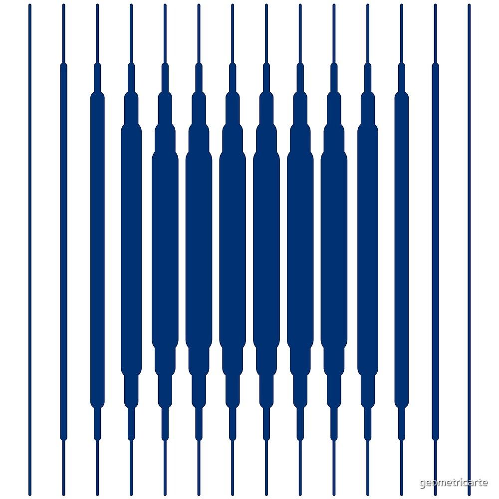 «SQUARE LINE (BLUE)» de geometricarte