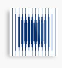 SQUARE LINE (BLUE) Lámina metálica